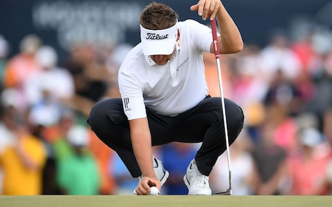 Ian Poulter sets up their momentous putt